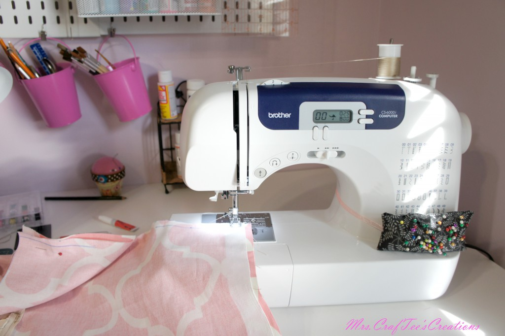 Sew the two pieces of fabric together along the edges [If you opted to put a cushion in you will need o make sure you sew the right sides facing each other.]
