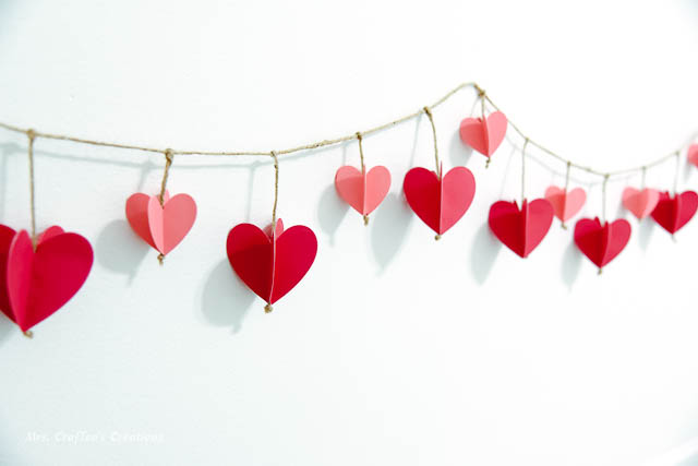 How to make 3D Paper Heart Garland
